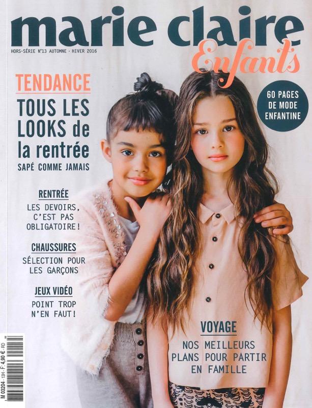 Parution Marie-Claire Enfants