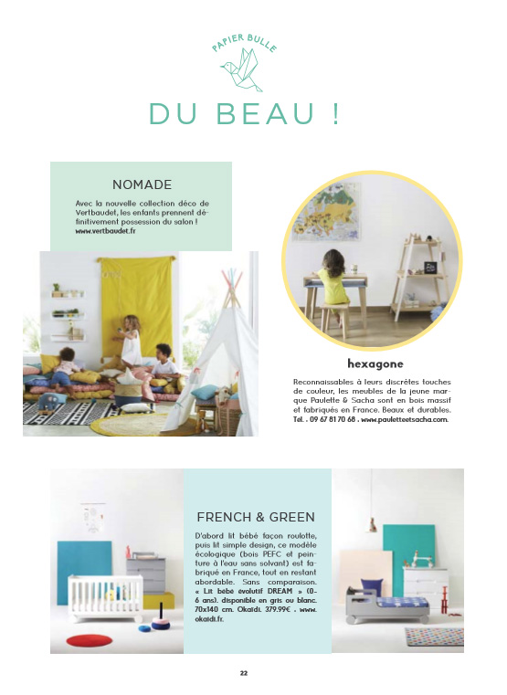 Article Bubble mag du beau