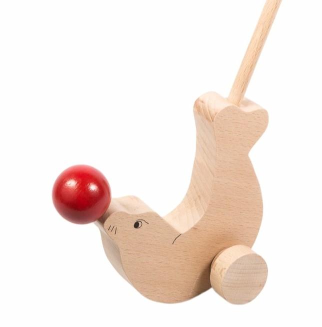 Otarie jouet en bois