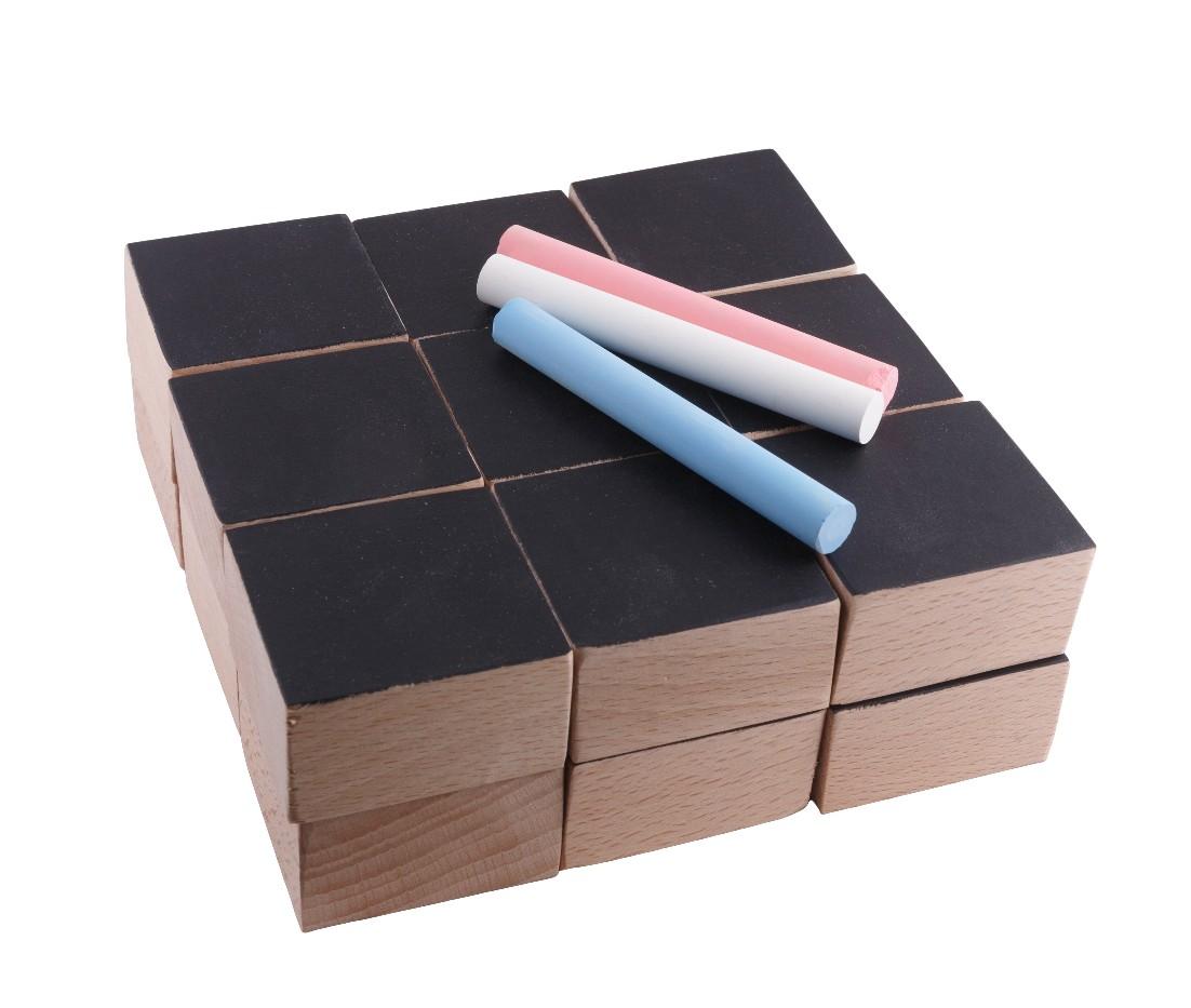 Cubes de construction avec face ardoise