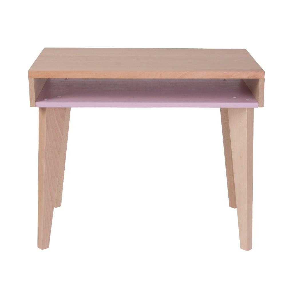 Bureau rose en bois pour enfant