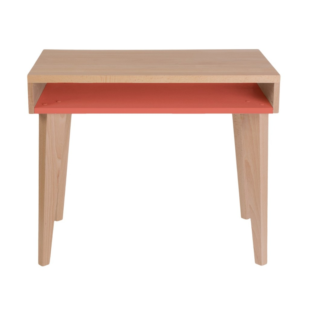 Bureau orange en bois