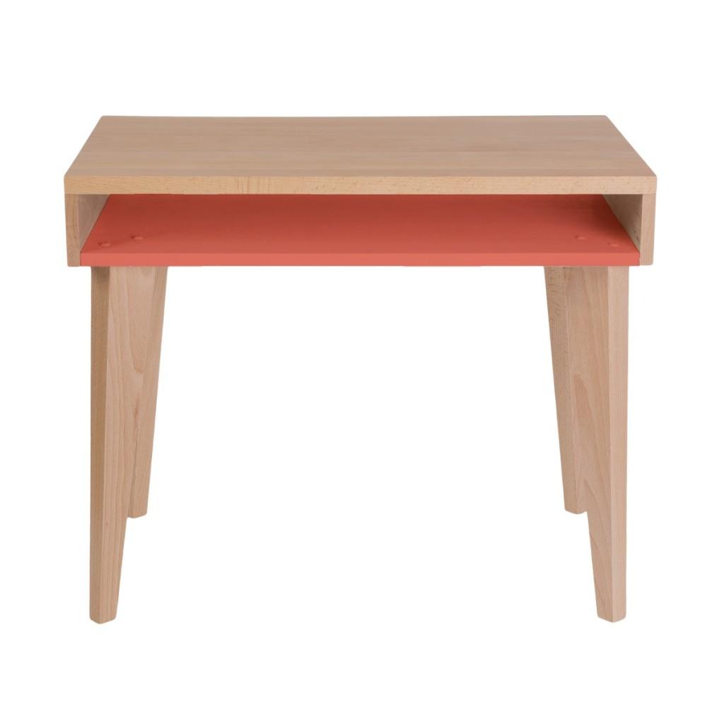 Bureau orange en bois