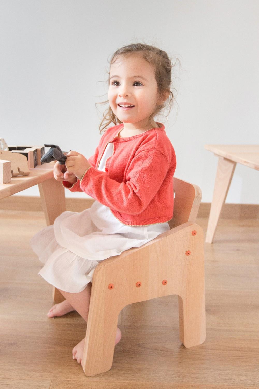 Fauteuil enfants en bois naturel