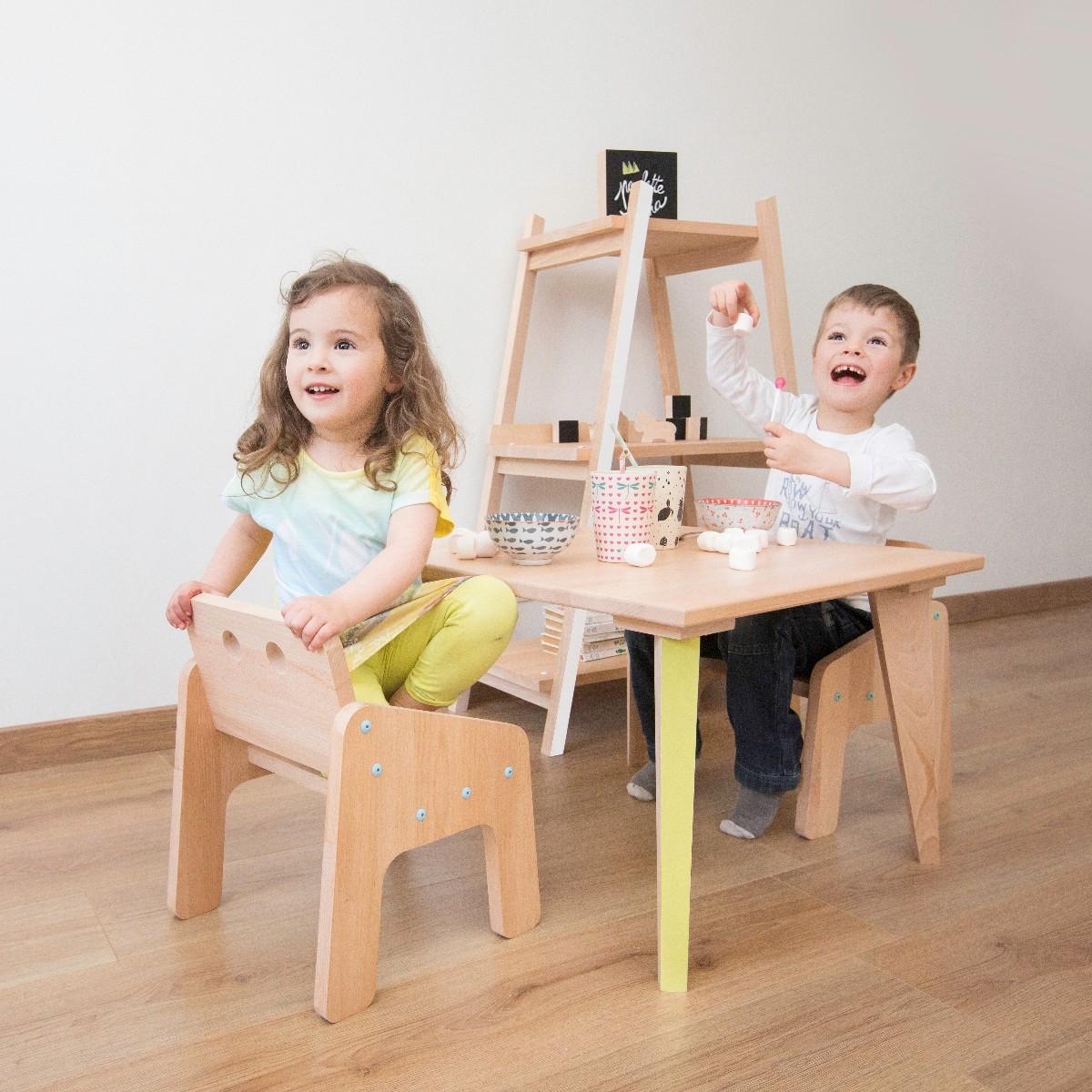 Meuble enfants en bois naturel