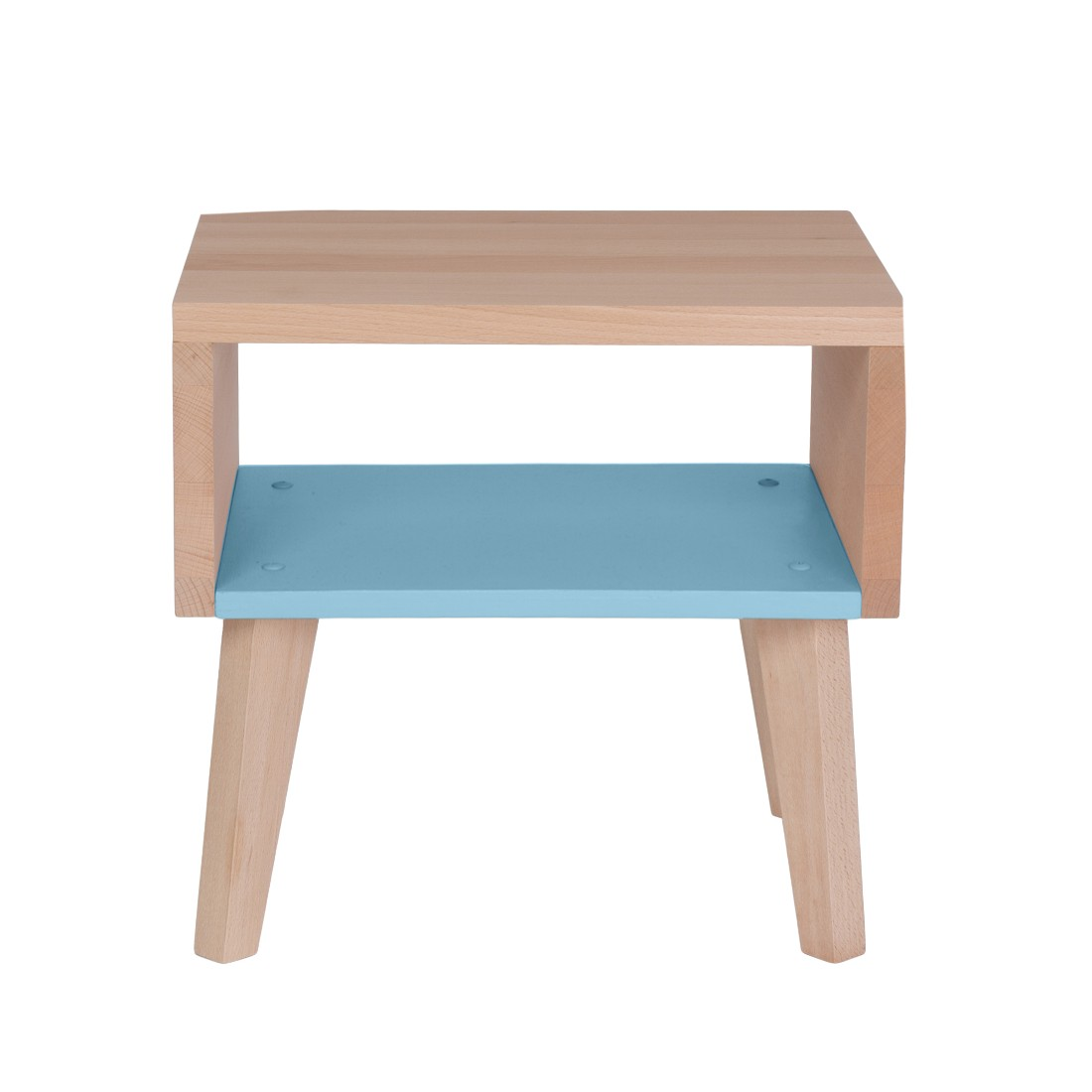 Table de chevet bleue