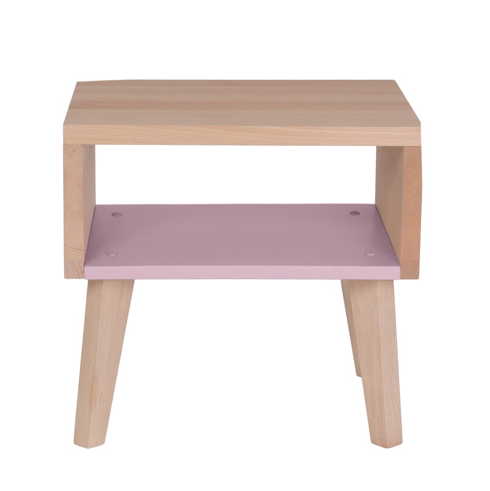 Chevet underscore rose p le paulette sacha - Table de chevet rose ...