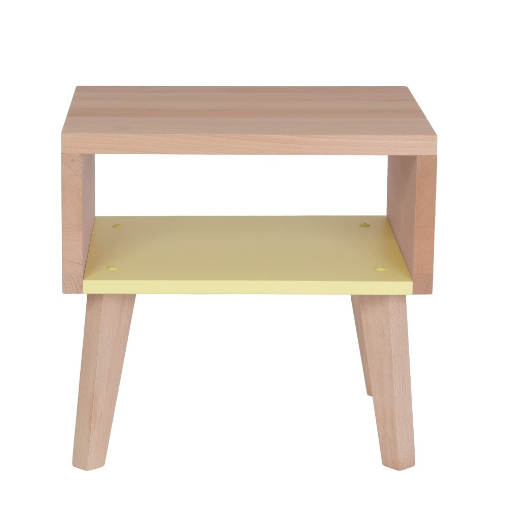 Table de chevet jaune