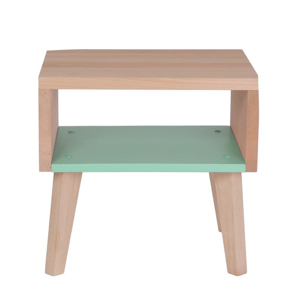 Table de chevet menthe