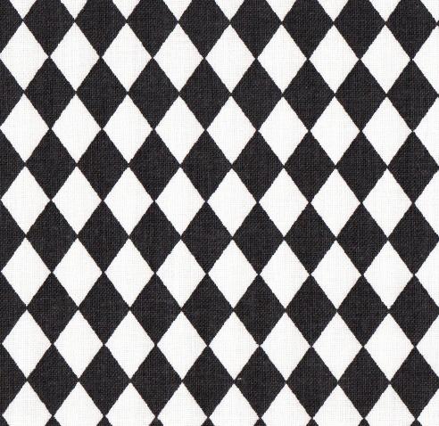 Motif losange noir et blanc